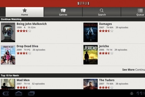 Netflix adds Android app support for Honeycomb tablets   Social TV is everywhere   Scoop.it
