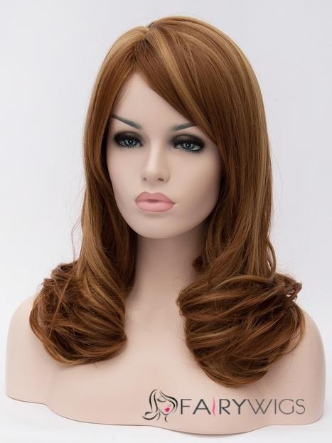 Fabulous Medium Brown Female Wavy Hairstyle : fairywigs.com | Synthetic Hair Wigs | Scoop.it