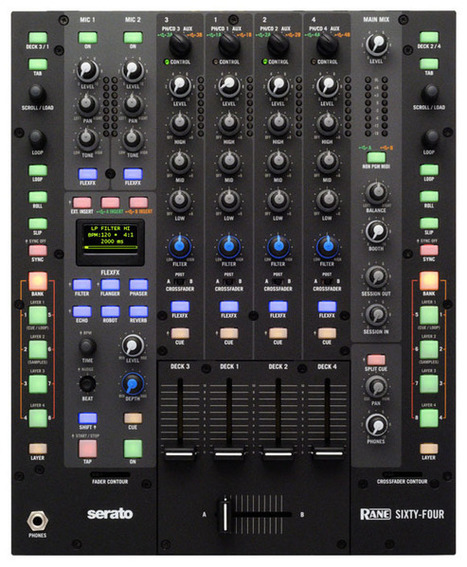 -Rane introduces the Sixty-Four DJ Mixer for Serato | DJing | Scoop.it