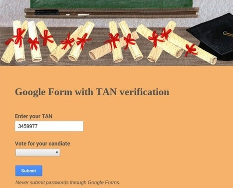 G-learning: Using Google Forms with secure verification numbers | glearning | Scoop.it