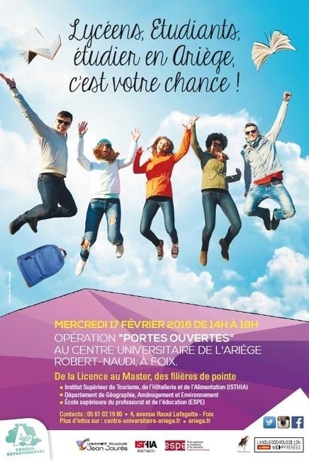 Centre universitaire de l'Ariège Robert-Naudi   Portes ouvertes, enseignement supérieur   Scoop.it