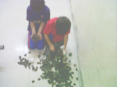 A kid's collection of  rubber bullets from a  neighborhood in Bahrain! | Human Rights and the Will to be free | Scoop.it