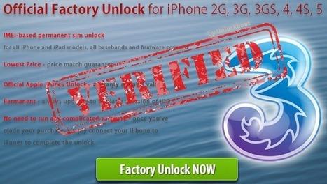 Unlock Three UK iPhone 5 4S 5c 5s 4 | Unlock three uk iPhone 4S | Scoop.it