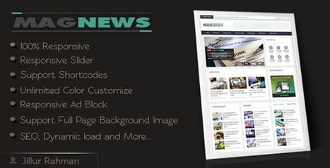 Responsive Magazine & News Blogger Theme (Blogger) - VIThemes | Blogger themes | Scoop.it