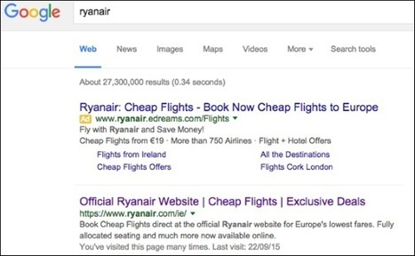 Ryanair attacks eDreams over Google advertising | ALBERTO CORRERA - QUADRI E DIRIGENTI TURISMO IN ITALIA | Scoop.it