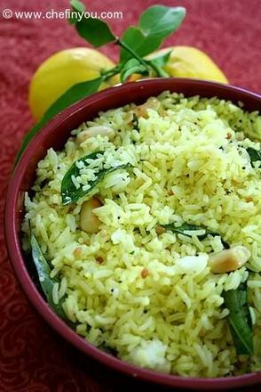 South Indian Lemon Rice Recipe | Chef In You | Vegetarian and Vegan | Scoop.it