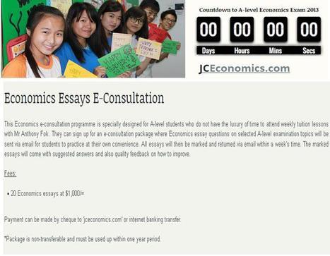 Economics Essays E-Consultation | H2 Economics | Scoop.it