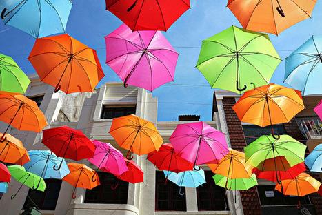 Colorful Umbrellas Installation | Culture &c. | Scoop.it