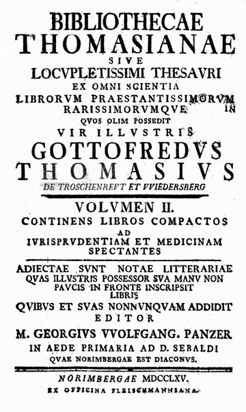 Bibliothecae Thomasianae | Early modern philosophy (mostly natural) | Scoop.it