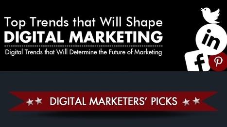 Top Trends That Will Shape Digital Marketing [Infographic] - Social Barrel | Brilliant Panda | Scoop.it