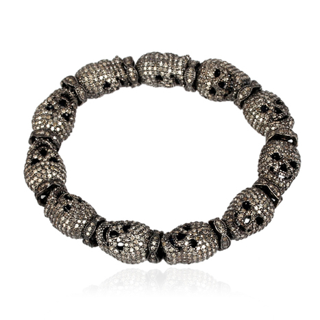 Skull Beads Pave Diamond Bracelet | Diamond Jewelry | GemcoDesigns | Pave Diamond Bracelets | Diamond Jewelry | GemcoDesigns | Scoop.it