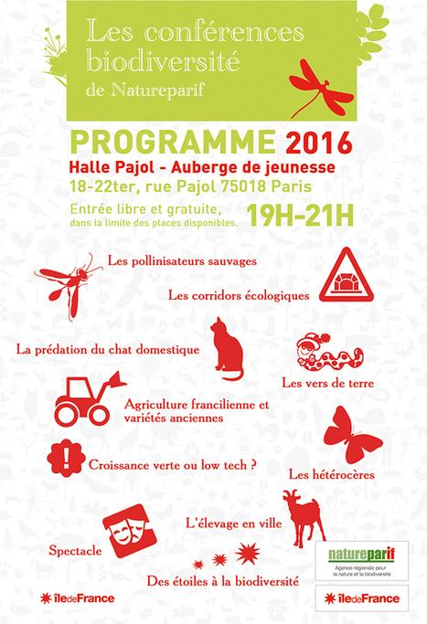 Île-de-France. Programme 2016 des conférences biodiversité de Natureparif   Variétés entomologiques   Scoop.it
