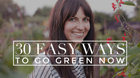 The Lazy Girl's Guide To Going Green(er): 30 Small Ways To Be EnvironmentallyFriendly | Practical Simplicity Zine | Scoop.it