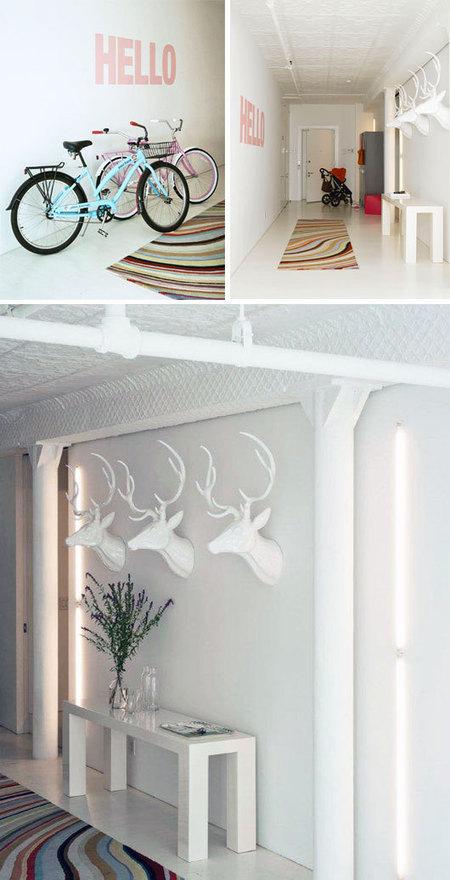 Loft à NY : Du blanc et des couleurs pastels | DecoCrush blog déco, idées déco | décoration & déco | Scoop.it