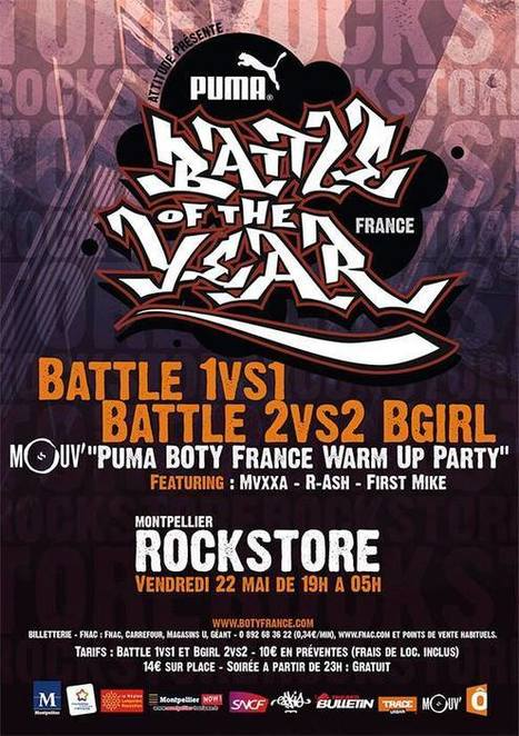 "BATTLES BBOY & BGIRL + ""PUMA BOTY FRANCE 2015 WARM UP PARTY"" - Les Bons Plans Urbains 
