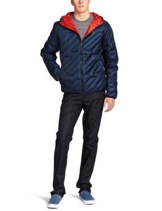^_^  A1631204 Volcom Mens Hooded Puff Puff Jacket, Dark Navy, Large Volcom Dark Navy   Discount Jackets Coats for Men   Scoop.it