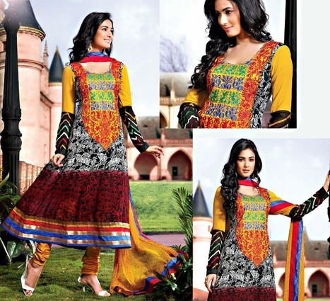 Embroidered Georgette Salwar Suit | If loving Fashion is a Crime, We Plead Guilty | Scoop.it