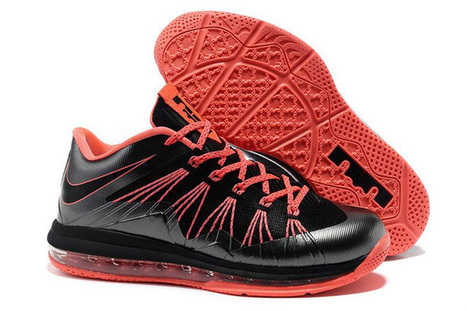 Air Max LeBron 10 Low Black Red Nike Mens Size Shoes | new and fashion list | Scoop.it