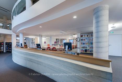 Médiathèque au Conservatoire de Musique et de Danse de Paris | Photographe d'architecture : Fabrice Dunou | Publications | Scoop.it