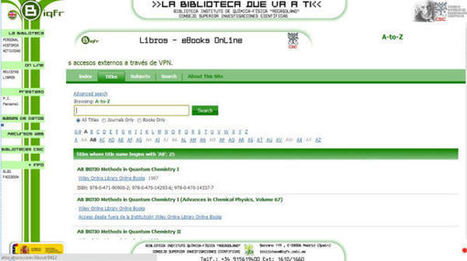 Implantación del e-book en las bibliotecas de investigación: estudio de caso de la Biqfr | REFERENCIA VIRTUAL - VIRTUAL REFERENCE | Scoop.it