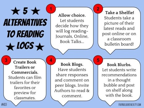 5 Alternatives to Reading Logs | Supporting Differentiated Instruction | Scoop.it