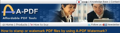Create a custom dynamic stamp for PDF with A-PDF Watermark   Create a custom dynamic stamp for PDF with A-PDF Watermark.   Scoop.it