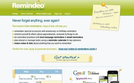 Remindeo, agenda online gratuita para no olvidarnos de nada | Utilidades TIC para el aula | Scoop.it