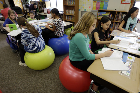 Teachers Ditch Student Desk Chairs For Yoga Balls | Classroom Activities for Multiple Intelligences | Scoop.it