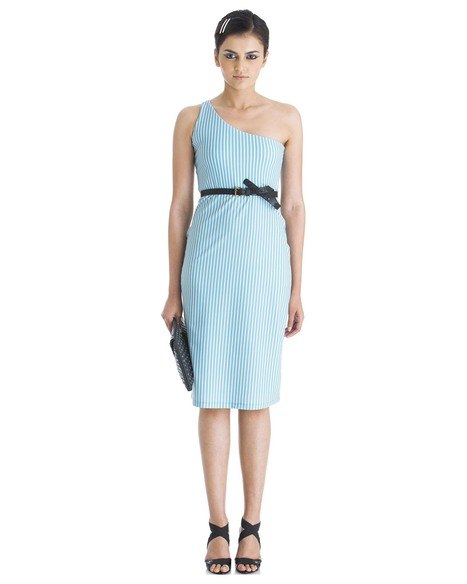 Shop for the 'stripe it up' midi dress by Yogesh Chaudhary at Stylista   Stylista   Scoop.it