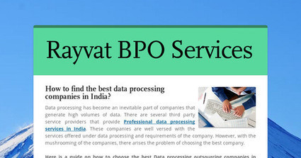 data processing companies in india | Accounting Services | Scoop.it