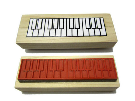 Two Octave Piano Fingering and Music Theory Rubber Stamp -    A great teacher and student aid. (Keyboard, Musician, Music, Woodwind) | New inventions | Scoop.it