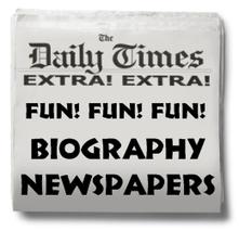 Biography Book Report Newspaper:  templates, printable worksheets, and grading rubric | Greek Education | Scoop.it