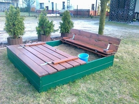 Sandpits made out of pallets | 1001 Pallets | toddler toys | Scoop.it