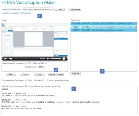 How to Create Free Closed Captioning Text for E-Learning | The Rapid E-Learning Blog | Technology And Design | Scoop.it