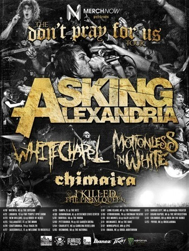 Asking Alexandria Announce Spring 2013 Headlining Shows With ... | Asking Alexandria (music) | Scoop.it