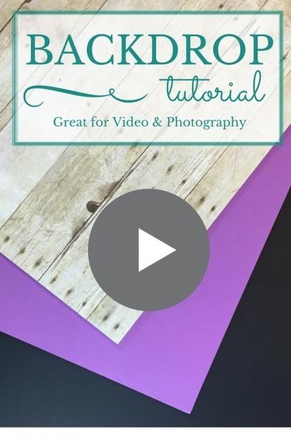Cheap Backdrop Video Tutorial - The Crafty Blog Stalker | Blogging & Social Media | Scoop.it