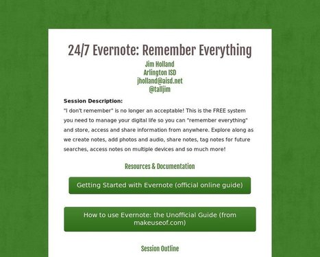 24/7 Evernote: Remember Everything - Tackk By @talljim | Educational Technology TechDivaAshlee | Scoop.it