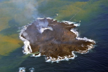 EN PLEINE CROISSANCE – La nouvelle île apparue au large du Japon grandit à vue d'œil | Japon | Scoop.it