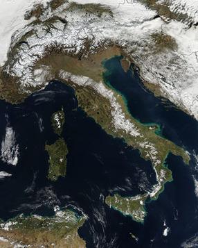 Snow in Italy   Remote Sensing News   Scoop.it