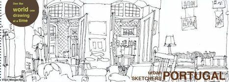 Urban Sketchers Portugal: Mais um desenho no comboio | Desenho | Scoop.it