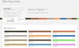 Web Colour Data: Quins colors utilitza un lloc web? | ApuntsDigitals | Scoop.it