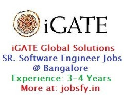"""iGATE"" Global Solutions Hiring Senior Software Engineer Jobs on Dec 2014 @ Bangalore « jobsfy 