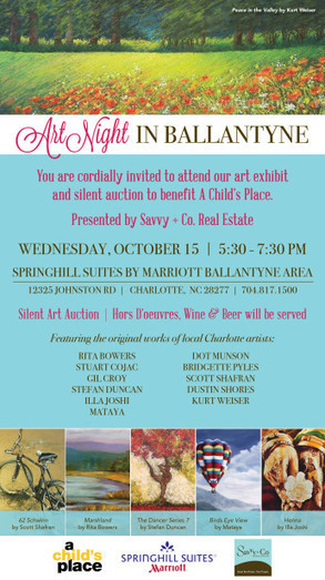 Art Night in Ballantyne Benefitting A Child's Place | Real Estate Across America | Scoop.it