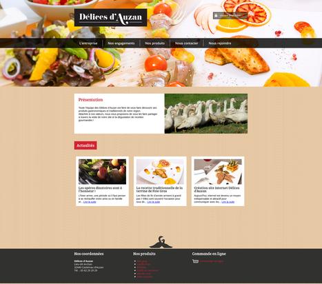 Sites internet Drupal pour Les Délices d'Auzan | Création sites internet Drupal & Magento made in Gers - Toulouse | Scoop.it