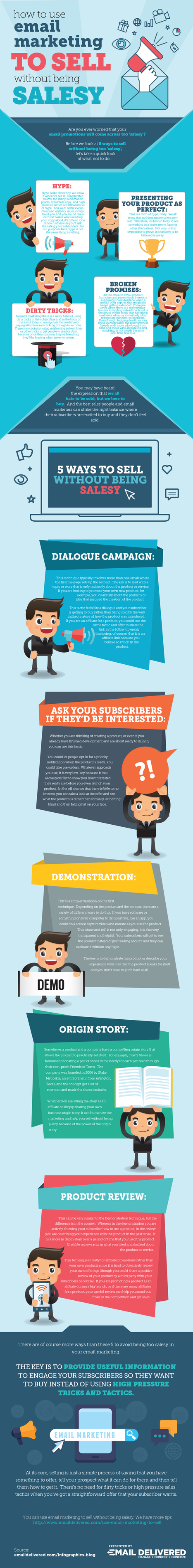 How to Use Email Marketing to Sell Without Being Salesy-Infographic - | Email Delivered | Scoop.it