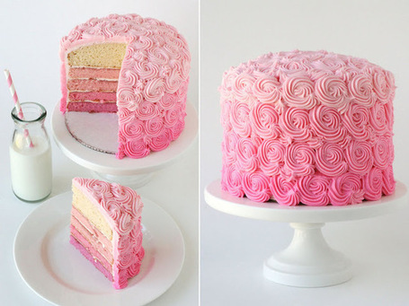 Pink Ombre Swirl Cake - Glorious Treats | Cakes & Bakes | Scoop.it