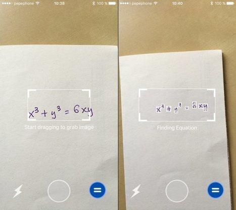 MathPix, la app de iPhone que hace tus deberes de matemáticas | MATH =) | Scoop.it