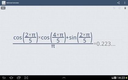 MyScript Calculator - Calculatrice avec reconnaissance d'écriture manuscrite | TICE, Web 2.0, logiciels libres | Scoop.it