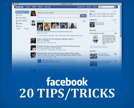 "20 Facebook Tips/Tricks You Might Not Know | ""#Google+, +1, Facebook, Twitter, Scoop, Foursquare, Empire Avenue, Klout and more"" 