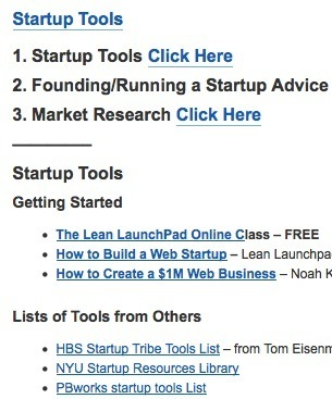 The Best Startup Tools Collection from Steve Blank | Business Power Ups:  ideas, tips, and expert advice | Scoop.it